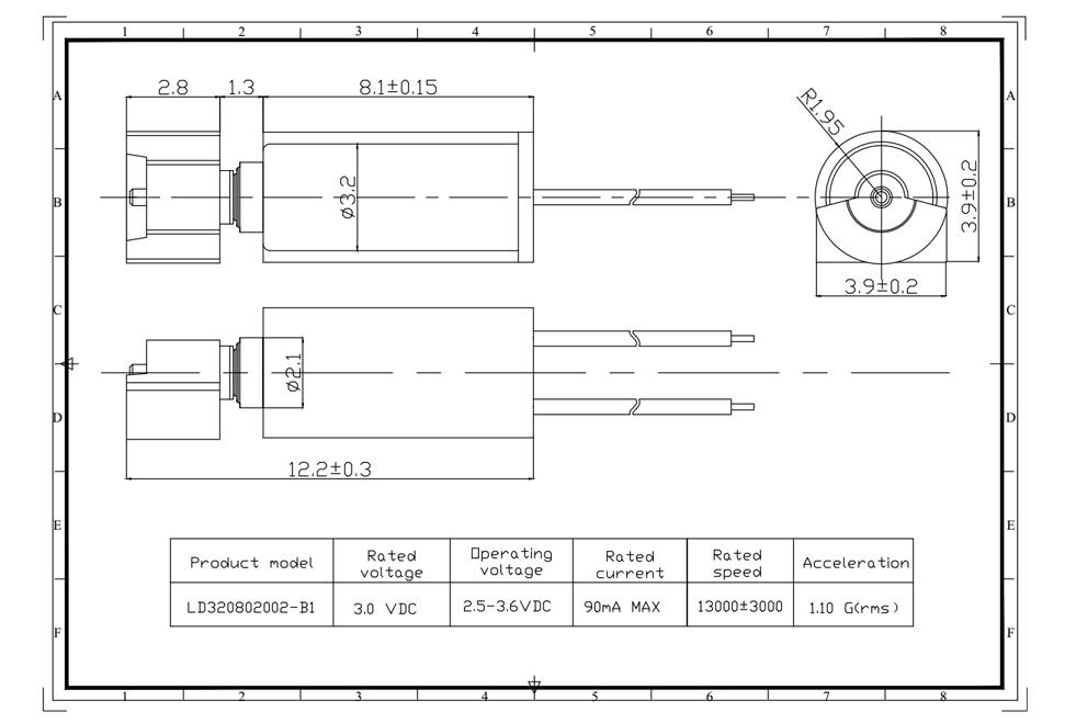 Cylindrical motor description