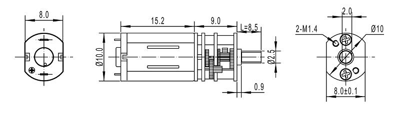 dc mini gear vibrating motor