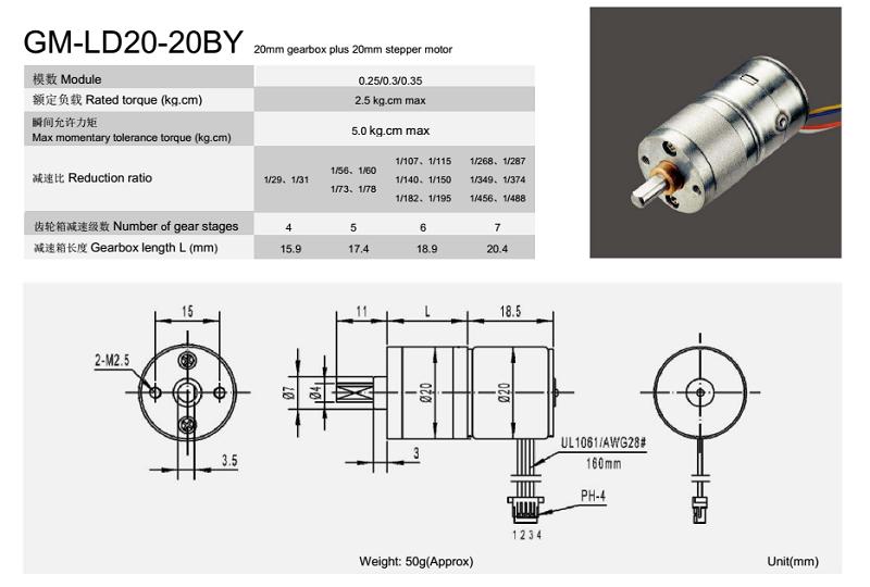stepper motor 20mm